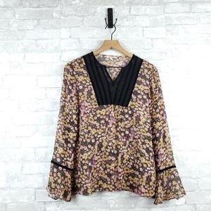 3/$25 Sundance Sheer Floral Blouse | Size 8